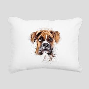Boxer Painting Rectangular Canvas Pillow