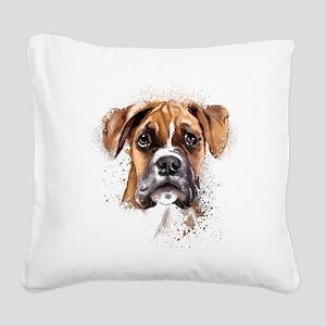 Boxer Painting Square Canvas Pillow