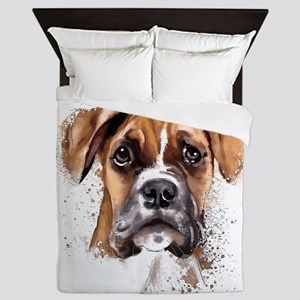 Boxer Painting Queen Duvet