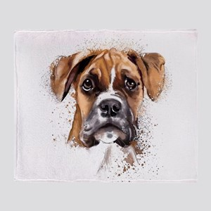 Boxer Painting Throw Blanket
