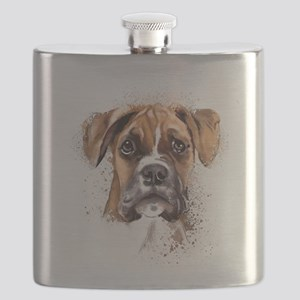 Boxer Painting Flask