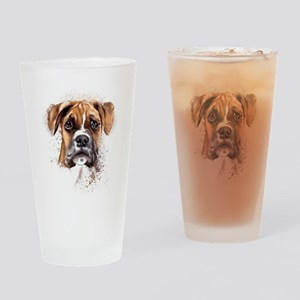 Boxer Painting Drinking Glass