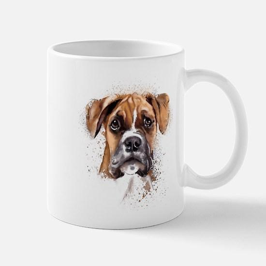 Boxer Painting Mugs