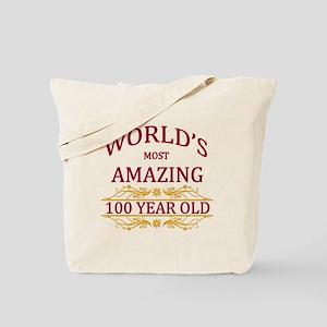 100th. Birthday Tote Bag