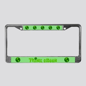 Think Green License Plate Frame
