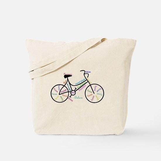 Motivational Words Bike Hobby or Sport Tote Bag