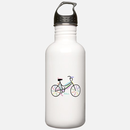 Motivational Words Bike Hobby or Sport Water Bottl