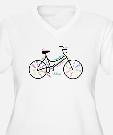 Motivational Words Bike Hobby or Sport Plus Size T