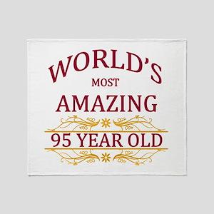 95th. Birthday Throw Blanket