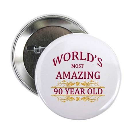 """90th. Birthday 2.25"""" Button (10 pack)"""