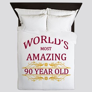 90th. Birthday Queen Duvet