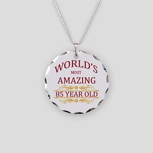 85th. Birthday Necklace Circle Charm
