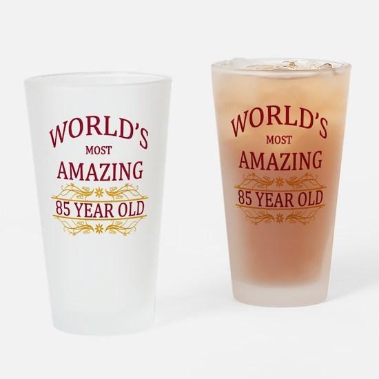 85th. Birthday Drinking Glass