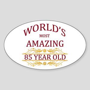 85th. Birthday Sticker (Oval)