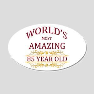 85th. Birthday 20x12 Oval Wall Decal