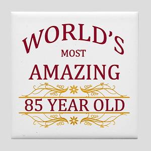 85th. Birthday Tile Coaster