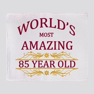 85th. Birthday Throw Blanket