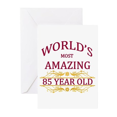 85th birthday greeting cards pk of 10 by worldsmostamazing 85th birthday greeting cards pk of 10 m4hsunfo