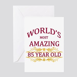 85th. Birthday Greeting Card