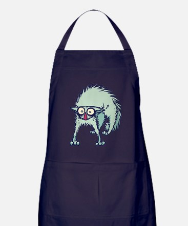 Freaked out Cat Apron (dark)