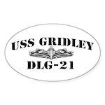 USS GRIDLEY Sticker (Oval)