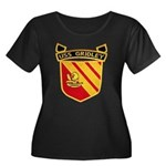 USS GRID Women's Plus Size Scoop Neck Dark T-Shirt