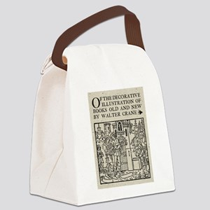 Walter Crane Illustration Canvas Lunch Bag