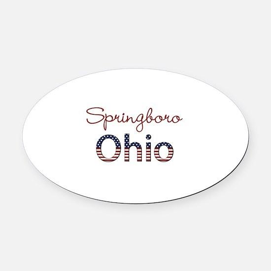 Custom Ohio Oval Car Magnet