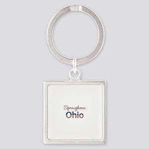 Custom Ohio Square Keychain