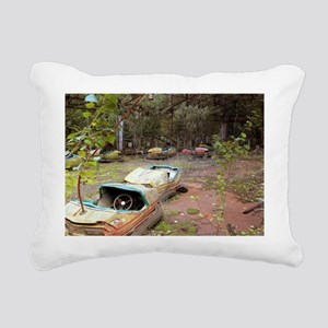 Abandoned Amusement Park Rectangular Canvas Pillow