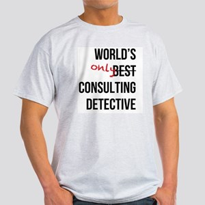 World's Only Consulting Detective Light T-Shirt