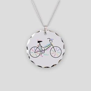 Motivational Words Bike Hobby or Sport Necklace Ci