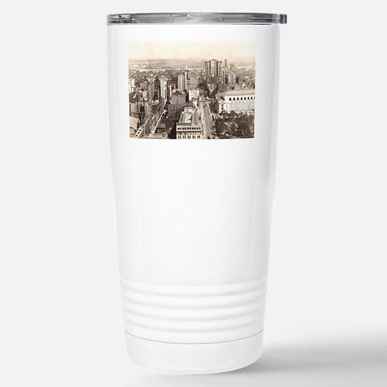 42nd St., NYC Vintage Stainless Steel Travel Mug