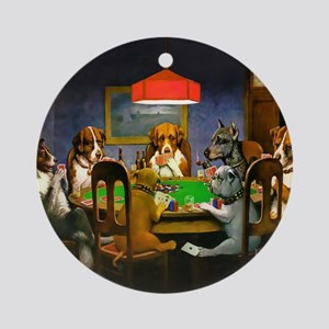 Poker Dogs Friend Ornament (Round)