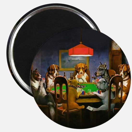 Poker Dogs Friend Magnet