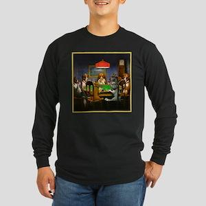 Poker Dogs Friend Long Sleeve Dark T-Shirt