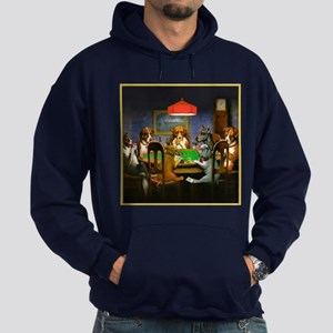 Poker Dogs Friend Hoodie (dark)