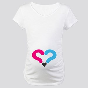 Maternity Question Mark Heart Maternity T-Shirt