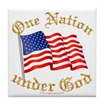 One Nation under God Tile Coaster