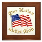 One Nation under God Framed Tile