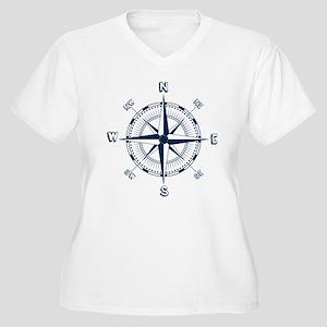Nautical Compass Plus Size T-Shirt