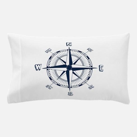 Nautical Compass Pillow Case