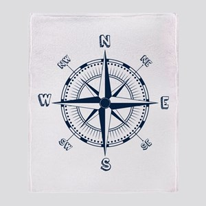 Nautical Compass Throw Blanket