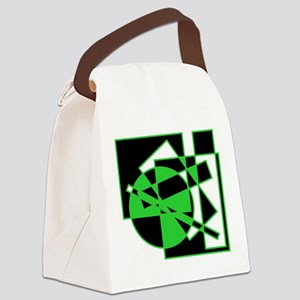 Squares And Circle Design #10 Canvas Lunch Bag