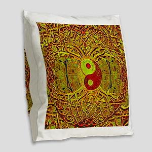Tree of Life Yin Yang Mandala in Sunset Colors Bur