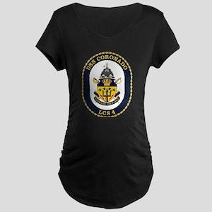 USS Coronado LCS-4 Maternity Dark T-Shirt