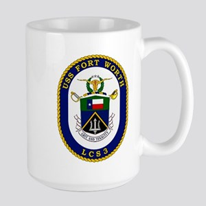 USS Ft. Worth LCS-3 Large Mug