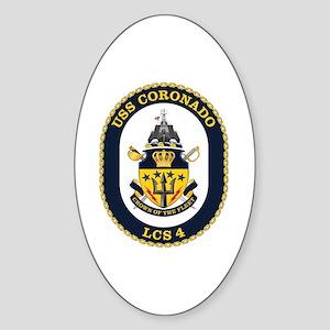USS Coronado LCS-4 Sticker (Oval)