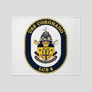 USS Coronado LCS-4 Throw Blanket
