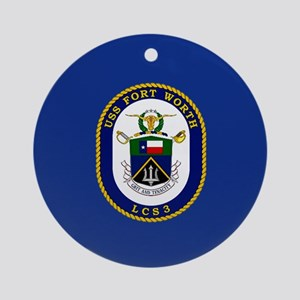 USS Ft. Worth LCS-3 Ornament (Round)
